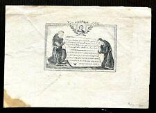 IMAGE PIEUSE ESTAMPE  ITALIE  PRIERE 1840