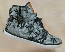RADII Footwear Straight Jacket VLC FM1037 Black Weed High Top Sneakers Men's 12