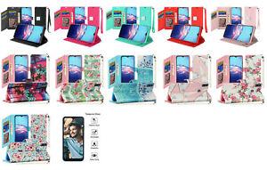 For Motorola Moto E (2020) XT2052DL / Moto E7 Wallet Pouch Case Phone Cover + TG