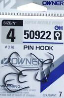 Owner Haken PIN HOOK 50922 Ohrhaken verschiedene Großen Angelhaken Hacken