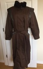 JINDO Women's Brown Trench Coat Brown Size Med Large