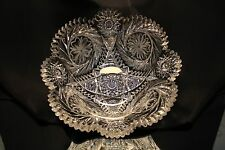 """American Brilliant WC Anderson Catherine Wheel 10"""" Bowl Libbey Interest GREAT"""
