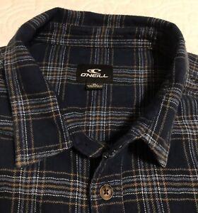 "O'Neill Surf Brand ""Redmond"" Flannel Men's Size Extra Large Blue Soft Cozy Warm"