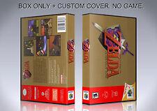ZELDA OCARINA OF TIME. NTSC ENGLISH. Box/Case. N 64. BOX + COVER. (NO GAME).
