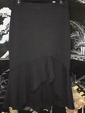 St. John Couture by Marie Grey Black Santana Knit Asymmetrical Maxi Skirt XS/S