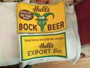 VINTAGE HULL'S BEER ADVERTISING BOCK BEER EXPORT FRESH ROASTED MALT RAM SPRING