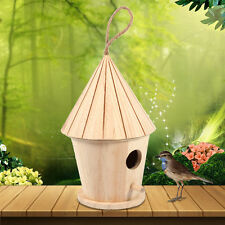 Big Wooden Wood Bird House Hanging Nest Nesting Box for Home Garden Decoration
