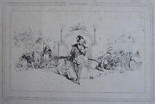 GRANDVILLE (Jean-Ignace- Isidore Gerard dit)(1803-1847) : « Fantaisies. » Lithog