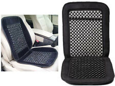 BLACK WOODEN BEAD BEADED CAR TAXI VAN CHAIR MASSAGE SEAT CUSHION COVER