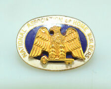 NATIONAL ASSOCIATION OF HOUSE BUILDERS ENAMEL SCREW LAPEL OR HAT PIN WITH EAGLE