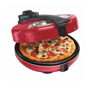 TODO 1200W Electric Pizza Maker Red
