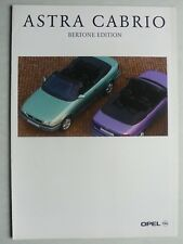 Prospekt Opel Astra Cabrio Bertone Edition, 2.1996, 6 Seiten, folder