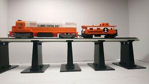 Tyco HO Train Illinois Central Gulf Alco C430 Powered Diesel Locomotive/ Caboose