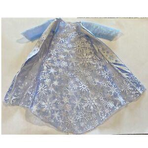 "Disney Frozen 13"" Northern Lights Elsa Cloak Robe Jacket Cape Doll Jakks Pacific"