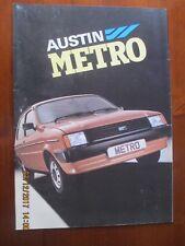 Austin Mini Metro Leyland 1981 Sales Brochure 1981 PUB NO 3466D