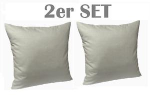 2er SET 30x30 oder 35x35 Kissenbezug Kissenhülle Hülle Dekokissen 100% Baumwolle