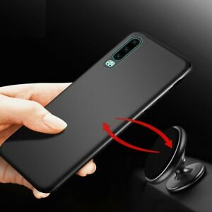 Magnetic Attraction Phone Case Slim Soft TPU Shockproof Car Cover For Huawei