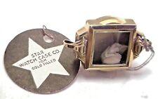 NOS Antique Vintage STAR Watch Co. Womens 10k Gold GF Deco Wrist Watch Case UM22