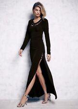 NEW Free People Cecilia de Bucourt black Stretch Cut Out Sexy Maxi Dress XS