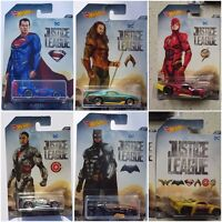 2017 HOT WHEELS DC JUSTICE LEAGUE DIECAST CARS DWD02 ASSORTMENT SET 1:64