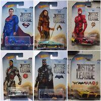 2017 HOT WHEELS DC JUSTICE LEAGUE DIECAST CARS DWD02 ASSORTMENT SET 1:64