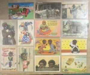 Vintage Lot of 13 Black Americana Postcards