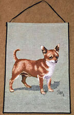 Chihuahua Tapestry Bannerette Wall Hanging ~ Artist, Linda Picken