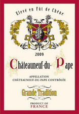 Kitchen Dish/Tea Towel Chateauneuf Du Pape Wine Label  19X 28 Made In France