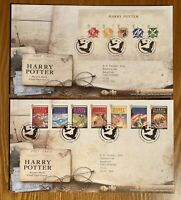 First Day Covers X 2 - Harry Potter - Strip And Mini Sheet