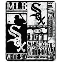 "New MLB Chicago White Sox Large Soft Fleece Throw Blanket 50"" X 60"""