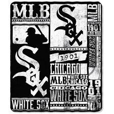 Chicago White Sox Strength Established 50x60 Fleece Throw Blanket Baseball