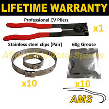 CV BOOT CLAMPS PAIR x10 CV GREASE x10 EAR PLIERS x1 GARAGE TRADE PACK KIT 4.10