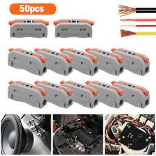 50pcs Spring Lever Terminal Block Electric Wire Cable Connectors Quick Splice
