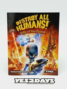 DESTROY ALL HUMANS Path of the Furon - ps3 Game Manual | Excellent Condition
