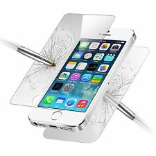 Front and Back Tempered Glass Screen Protector Film Guard for Apple iPhone 5S 5
