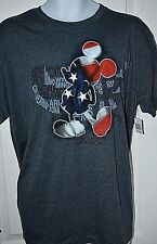 NWT Men's Disney Mickey Mouse silhouette of Map of the United States Tee XL