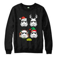 Star Wars Christmas Jumper Stormtrooper Elf Festive Gift Adults Kids Jumper Top