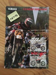 Yamaha YZ400F WR400F YZ Wr 400 F Catálogo Moto Folleto Publicidad Folleto