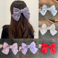 Hairpin Bow Fashion Hair Accessories French Clip Hairpin Pearly Satin