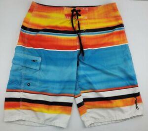 ONEILL Mens Size 30 Blue Orange Swim Surf Beach Board Shorts