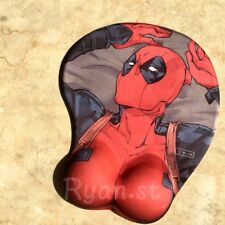 Anime Mutants Deadpool 3D Mouse pad Chest Silicone Soft Play Mat Wrist Rest Gift