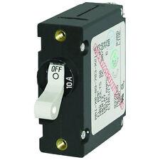 Blue Sea 7206 A-Series AC/DC Single Pole Magnetic Toggle Circuit Breaker 10A Amp