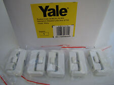 BOX 50 GENUINE YALE 8K101 WINDOW LOCKS WHITE TIMBER WOODEN TRADE PACK BRAND NEW
