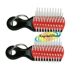 2 x Denman Mini Pocket Handbag Keyring Brush