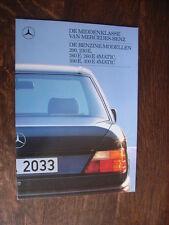 Mercedes Benz 200, 230E, 260E, 300E (W124) Prospekt, Flämisch / Dutch, 10.1987