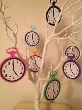 Set of 7 Assorted hand crafted Alice In Wonderland Pocket Watch Party Props 10cm