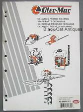 Original 1998 Oleo-Mac Spare Parts Catalog English French Italian Spanish