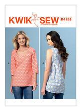 Kwik Sew K4159 PATTERN - Misses Tops - Brand New Sizes XS, S, M, L, XL