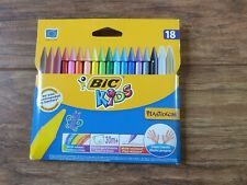 Brand New BIC Kids Plastidecor Colouring Crayons - Assorted Pack of 18
