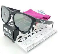 NEW Oakley Frogskins sunglasses Matte Blk Iridium Polarized 24-297 GENUINE 9013